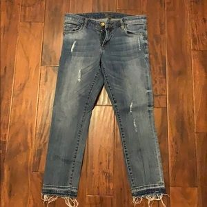 KUT from the Kloth open hem distressed jeans